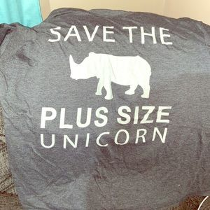 "Heather gray ""plus size unicorn"""